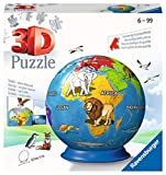 Ravensburger 3D Puzzle 11840 - Puzzle-Ball Kindererde - 72 Teile - Puzzle-Ball Globus für Kinder 6 Jahren
