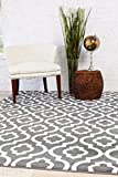 3028 Dark Gray Moroccan Trellis 7'10x10'6 Area Rug Carpet Large New