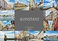 Konstanz Stadtansichten (Wandkalender 2022 DIN A2 quer): Wunderschoene Stadt am Bodensee (Monatskalender, 14 Seiten )