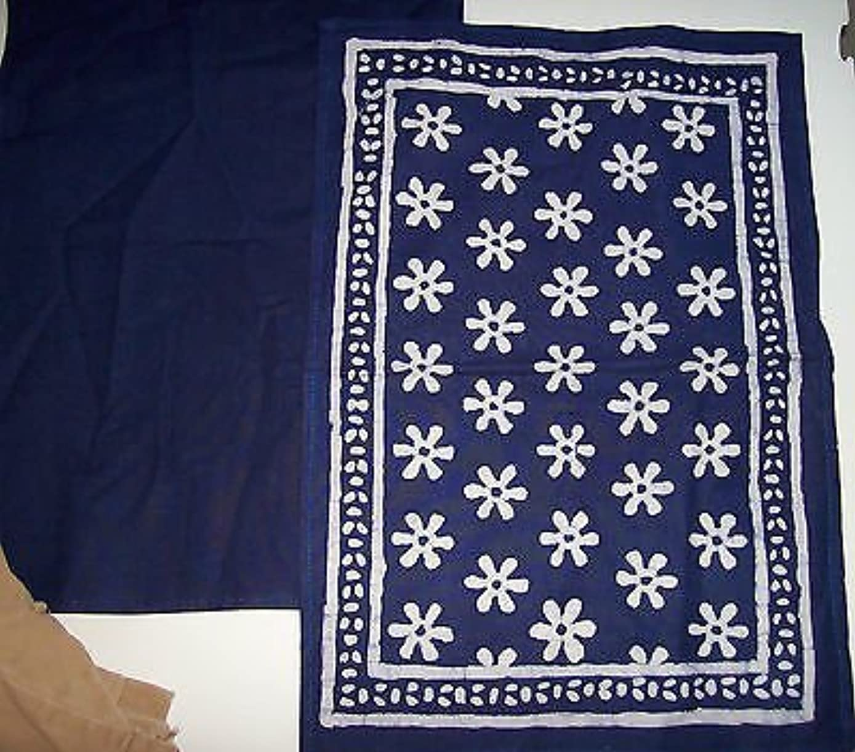 100% Natural dye free Hankercheif Head tie neck tie Table Natural Pure Blue Art Desgined Placemats napkins Cloth Hankercheifs Cloth