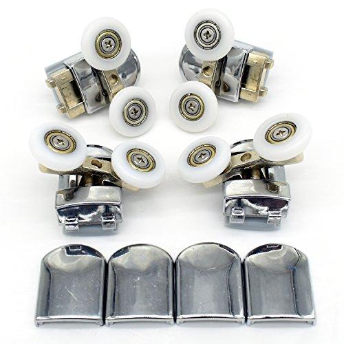 Duschkabinenrollen, 23 mm, Ersatzteile für Badezimmer, Set mit 4 Doppelrollen