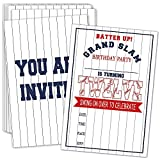 12th Birthday Party Invitations with Envelopes – Batter Up Baseball Party Invitations, Baseball Party Decorations– 20 Cards With Envelopes(bq-12)