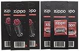 Zippo–3stoppini e 3pietre focaie sigillato Packs–Confezione da 6...