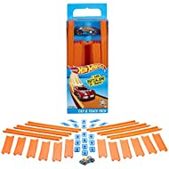 Cool combination of Hot Wheels track and one car for big customizing fun. Includes 18 track connectors: an assortment of 9-inch track, 12-inch track, and track connectors. Connects with other Hot Wheels track sets (sold separately) for tons of exc...