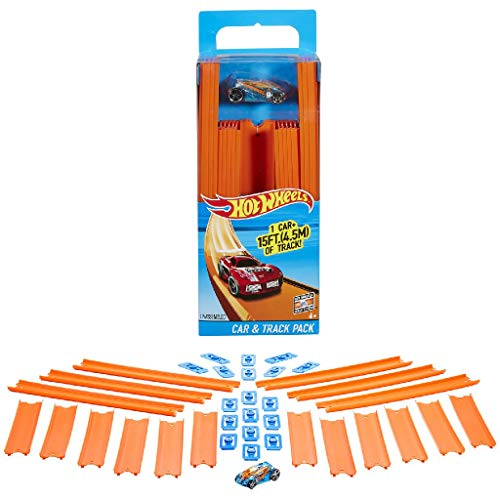 Hot Wheels Track Builder, tramos de pista con vehículo incluido, accesorios para pistas de coches de juguete (Mattel BHT77) , color/modelo surtido