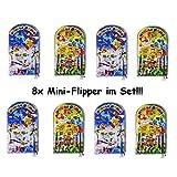Lg-Imports 8X Mini Flipper Pinball Kinder Kugel Spiel Geduldspiel Mitgebsel Geburtstag Party