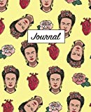 Frida Kahlo Journal (Journal, Diary, Notebook): Frida Kahlo Hearts and Flowers Pattern, 7.5 x 9.25, 120 Pages (Empty Journals To Write In)