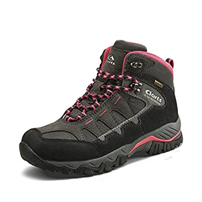 Clorts Women's Hiking Camping Boots Waterproof Breathable High-Traction Grip Voyageur Shoes HKM-823E US 8.5 Pink