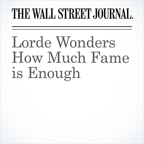 Lorde Wonders How Much Fame is Enough copertina