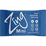 Zing Bars Plant Based Protein Bar Minis, Dark Chocolate Coconut, 18 Count