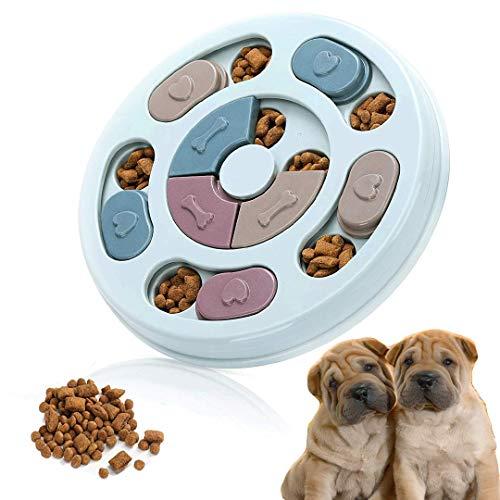 FayTun Juguete alimentador Lento de Rompecabezas para Perros, Juguete alimentador Lento de Rompecabezas Interactivo para Mascotas con Antideslizante,