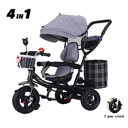 Ruedas de Gomas Dorado Fascol Triciclo Beb/é Evolutivo Plegable 4 en 1 Trike Bici con Asiento Ajustable y Capota Extra/íble para Ni/ños de 6 Meses a 5 A/ños M/áx 30 kg