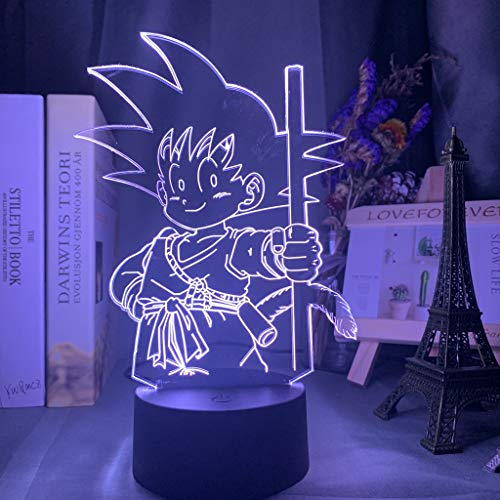 Dragon Ball Feuerschatten LED Nachtlicht Baby Goku Schlaf Bild Schlafzimmer Dekoration Nachtlicht 16 Farbwechsel USB Tisch 3d Licht Geschenk