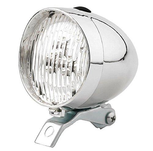【ノーブランド品】自転車 レトロ デザイン ライト 砲弾型 LED 電池式