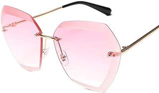 LUKEEXIN Sunglasses Driving Infinity UV Protection Sunglasses Personality Sunglasses Bright Color Sunglasses (Color : Gold Frame Gradient Powder)