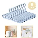 ESOUL TECHNOLOGY Magic Hangers Closet Space Saving Clothes Hanger Organizer Pack of 8 Plastic Suit Hangers 360 Degree Swivel 8blue