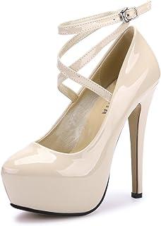 6d61ecd65ad Amazon.co.uk  Beige - Court Shoes   Women s Shoes  Shoes   Bags