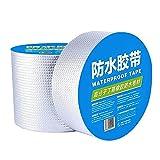 Cinta de Aluminio Y Caucho Butílico Superimpermeable, Cinta de Reparación, Resistente Al Agua, Cinta Adhesiva de Butilo, para Reparar Fugas de Tubo (10 cm x 5 m)