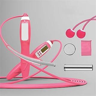 スポーツ電子縄跳び 調節可能なウェイトスキップ練習で1本のコードレススキッピングロープでカウンタ2と縄跳び 多機能で実用的 (Color : Pink, Size : Rope length 3m)