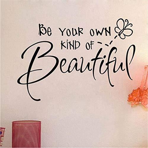 Preisvergleich Produktbild Ysain Verkaufen Sie Ihre Eigene Art Von Schöne Schönheit Mädchen Zitate Entfernbare Wandaufkleber Für Mädchen Zimmer 80 * 38 Cm