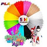 MTURE 3D Stift Fliament, Ink Filament PLA Filament 3D Stift Filament für 3D Drucker-Stift 3D Pen 3D Stift 3D Drucker 12 PCS 1,75 MM 5M