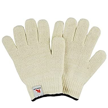 Heat Resistant Oven Mitts, Ironland Oven Gloves Hot Surface Handler, White (white-2pairs)