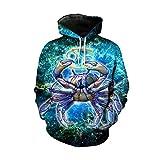JSR-Hoodie 12 Constelación del Inconformista Fresca Pullover Sportwear Sagitario Piscis Acuario Galaxy Camiseta Coats 3 XL