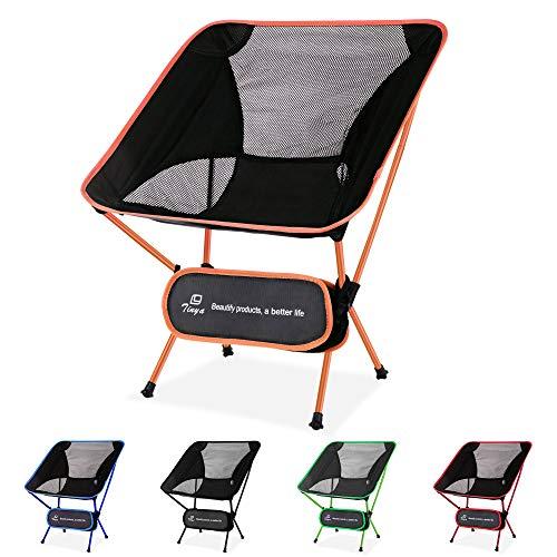Tinya Ultralight Backpacking Camping Chair: Kids Adults Backpacker Heavy Duty 230lb Capacity...