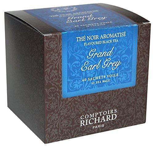 Comptoirs Richard Thé Noir Grand Earl Grey (Earl Grey 40 Beutel Mit Schwarzem Tee)