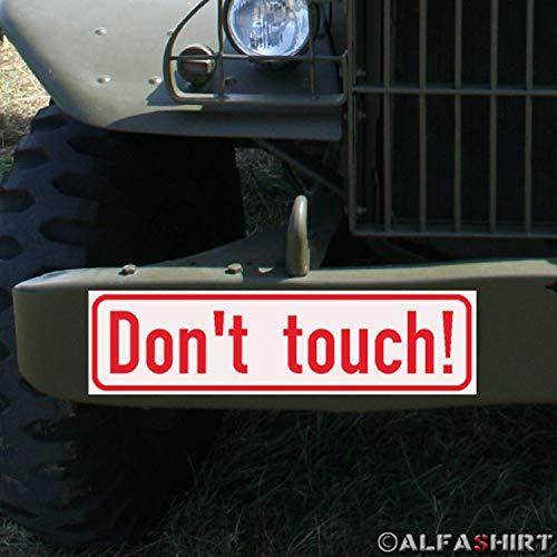 Magnetskylt Dont Touch Museum utställning Show Rör inte BW KFZ #A290