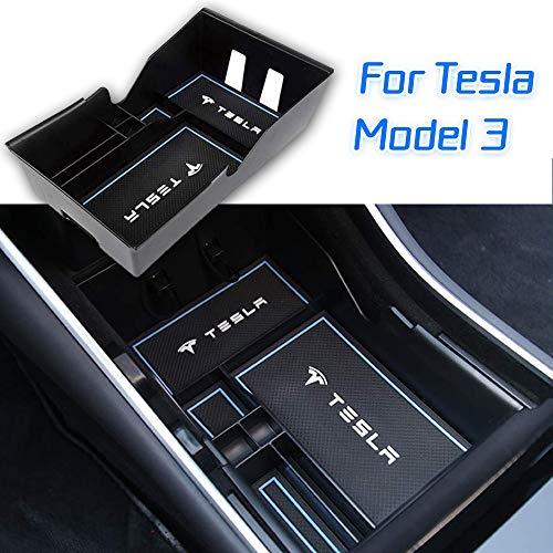 Topfit Model 3 Caja de Almacenamiento para Consola Central Apoyabrazos para coche Caja de Almacenamiento