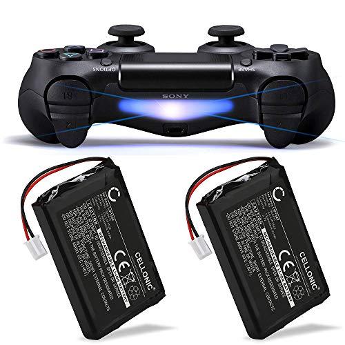 CELLONIC 2X Qualitäts Akku kompatibel mit Sony PS4 Dualshock 4, Playstation 4 Controller, LIP1522 1300mAh Ersatzakku Batterie