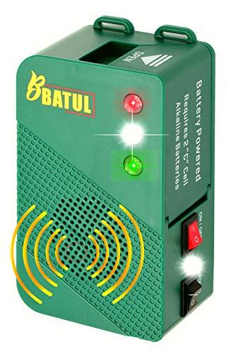ByBATUL Marderscheuche Marderabwehr Batteriebetrieb mit Ultraschall und Blitzlicht Marderschreck für Auto Dachboden Wohnmobile Garage Restorant (1)
