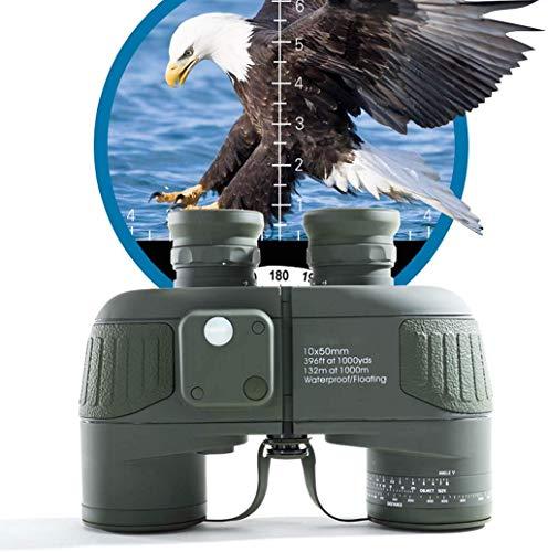 LFDHSF Großes Fernglas der Ansicht HD Marine Compass Coordinate Ranging Waterproof Binocular für die Vogelbeobachtung Jagd Sport