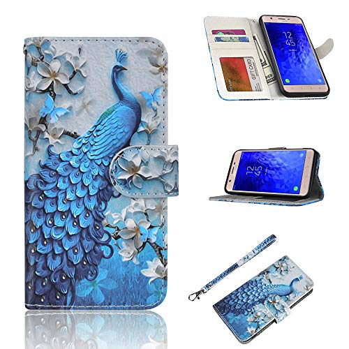 Elegant Peacock Wallet Case for Samsung Galaxy S9 Plus PU Leather Flip Cover Compatible with Samsung Galaxy S9 Plus