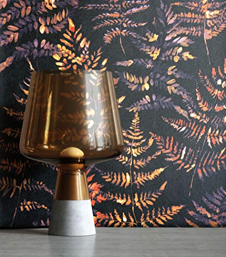 NEWROOM Tapete Modern Blätter Wald schwarz Vliestapete Vlies moderne Mustertapete Tapete Blumentapete Wallpaper Floral inkl. Tapezier Ratgeber
