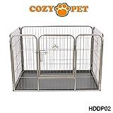 Heavy Duty Puppy Playpen by Cozy Pet - Medium Enclosure Dog Cage Dog