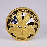 Beautiful Collection of Coins 2020 Donald J.Trump 45th President Commemorative Gold Plated Coin Keep America Great God Bless America Eagle Gold Coins for Dad/Boyfriends/Husband Gift Forever