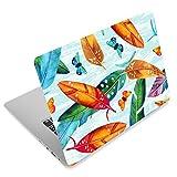 Laptop-Aufkleber für Toshiba HP Samsung Dell Apple Acer Leonovo Sony Asus Notebook (Blatt- und Schmetterlinge)