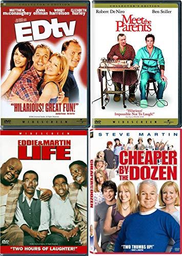 4 Star! Comedy Funny Movie Pack Ben Stiller Meet the Parents / Cheaper By The Dozen Steve Martin / Eddie Murphy Life / EDtv Ron Howard DVD set