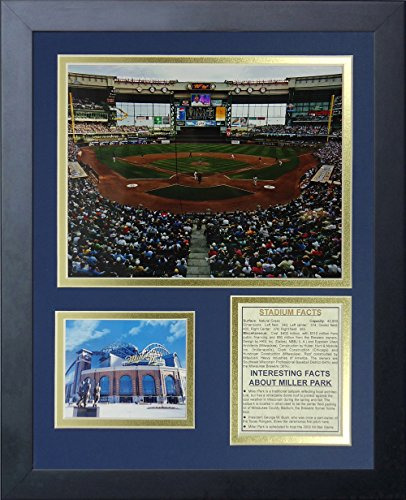 "Legends Never Die ""Milwaukee Brewers Miller Park Framed Photo Collage, 11 x 14-Inch"