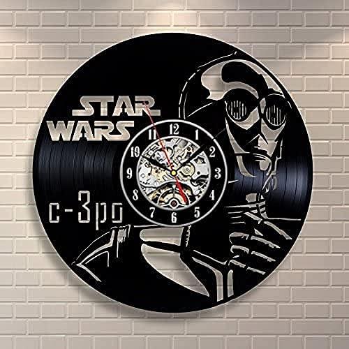Star Wars C-3PO Art - Reloj de pared de vinilo para pared,...