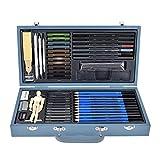 Yisenda Lápiz de Dibujo, lápices de Dibujo, Arte práctico para Dibujar Dibujo de Pintura(Gray 60-Piece Set)