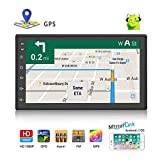 Double Din Android Car Navigation Stereo 1G/16G Car Entertainment Multimedia Radio Indash Head Unit Support WiFi/SWC/DVR/Mirror Link/USB/FM/Rear View Car Audio