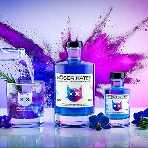 Böser Kater Two Faced Gin mit Farbwechsel | Handgemacht & Small Batch | 0,5l - 40% vol. - 2