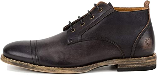 Pour des Hommes Hommes Hommes Travail Chaussures Habillées Bottines en Cuir Véritable Hauts Haut Chaussures à Lacets Chaussures à Lacets Bottes Martin Bottes Vintage Chelsea,noir,42 5ba