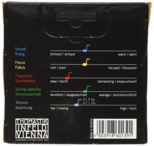 『Dominant ドミナント 4/4バイオリン弦セット(E線130MSスチール、ループエンド)』の1枚目の画像