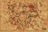 Nintendo Póster The Legend of Zelda Breath of The Wild - Hyrule World Map/Mapa (91,5cm x 61cm)