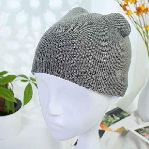 Irinay Lässige Strick Crochet Beanie Mütze für...