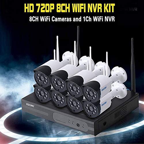 ESCAM IP WNK 804 1080 P CCTV 8CH HD Wireless NVR Kit IR Visión Nocturna IP WiFi Cámara de Seguridad vigilancia